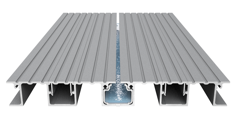 Aluminium Decking Drain Channel