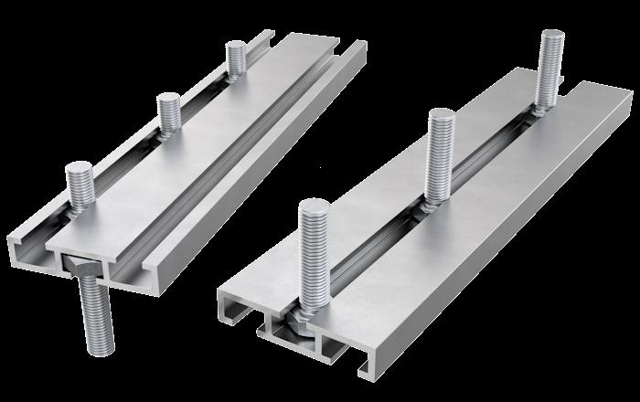 Aluminium Decking Triple Bolt Channel