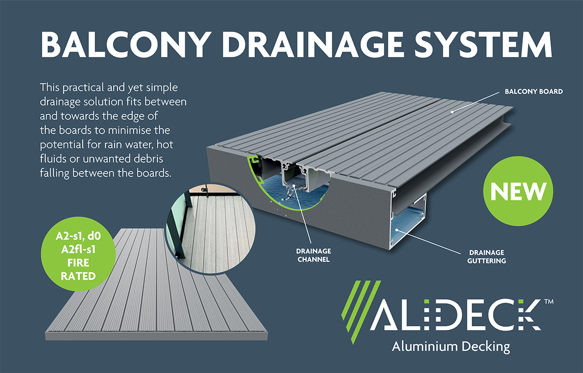 AliDeck Balcony Drainage System Provides A Positively Drained Solution With AliDeck Balcony Decking