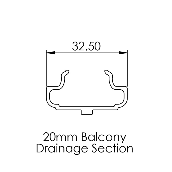 AliDeck Drainage Channel For Balcony Drainage System and Junior Aluminium Decking Balcony Boards