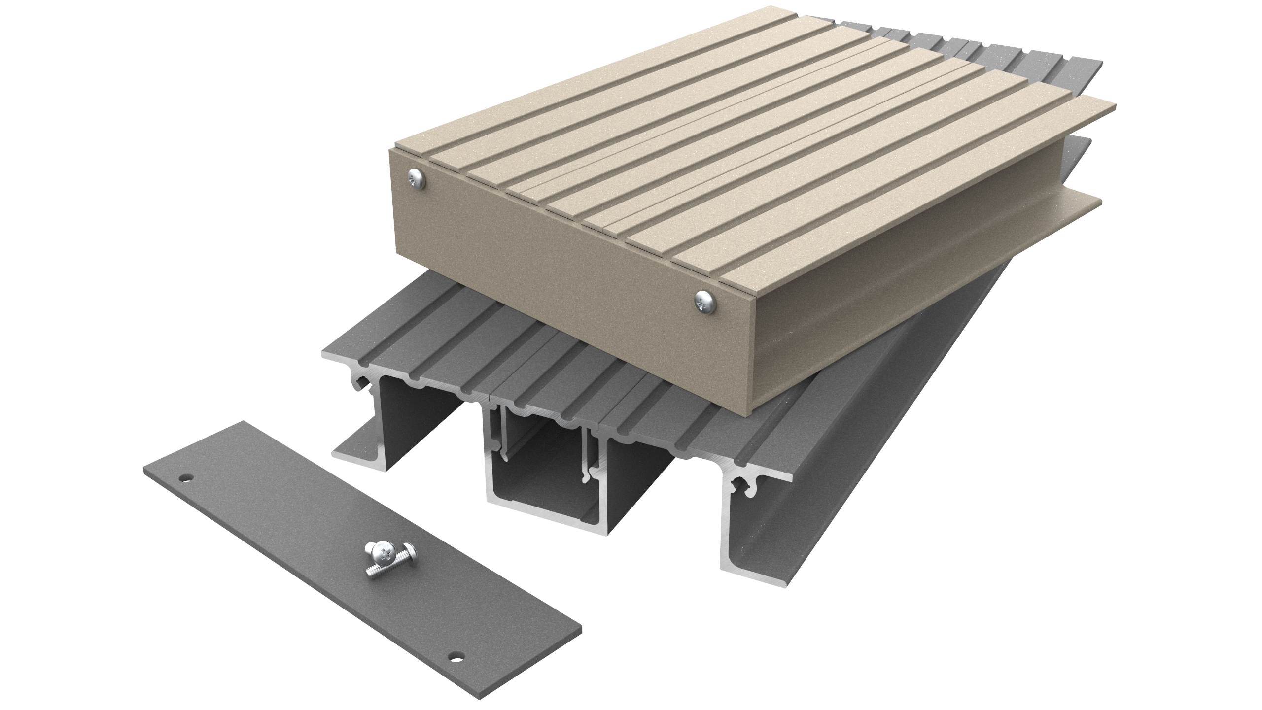 Detail of AliDeck's Senior Balcony Board Decking Product