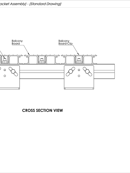 AliDeck Aluminium Metal Decking Adjustable Pedestal Brackets Drawing Thumb