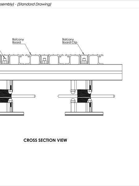 AliDeck Aluminium Metal Decking Adjustable Pedestal Drawing Thumb