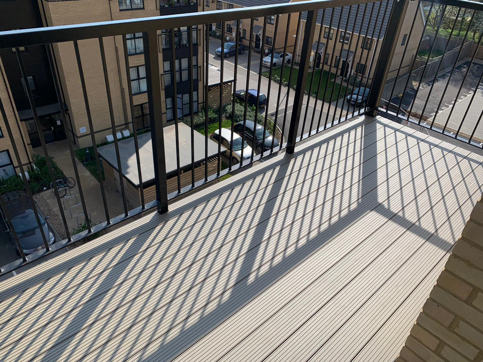 AliDeck Aluminium Metal Decking Installed on Balcony Project in Stevenage