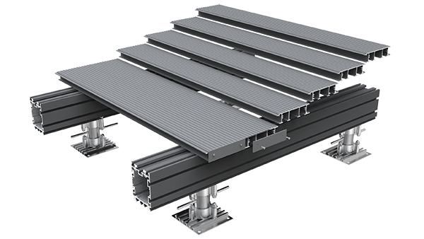 AliDeck Aluminium Metal Decking System For Balcony, Terrace and Walkway Projects