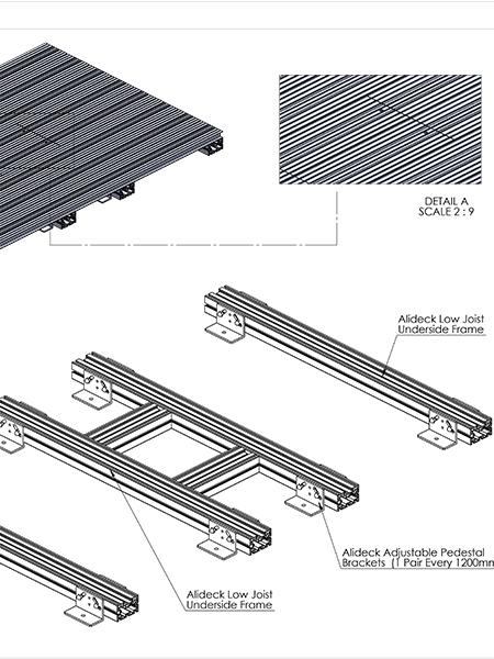 AliDeck Aluminium Metal Decking Hatch Access Detail Drawing Thumb