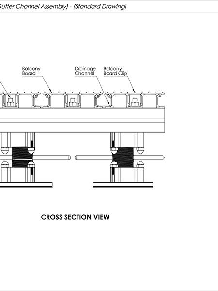 AliDeck Aluminium Metal Decking Balcony Drainage System Drawing Thumb