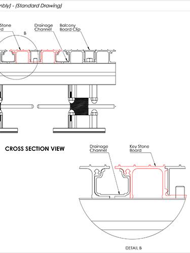 AliDeck Keystone board Aluminium Metal Decking Drawing Thumbnail