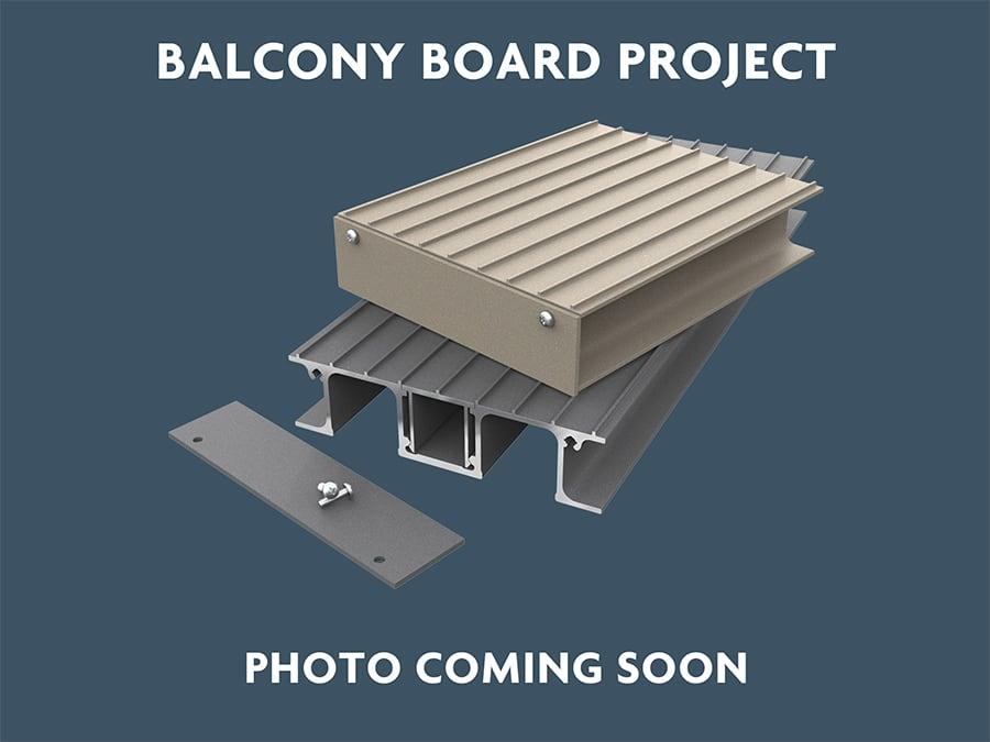 Aluminium Balcony Decking Project in Farnborough, Hampshire for Terrestrial Developments