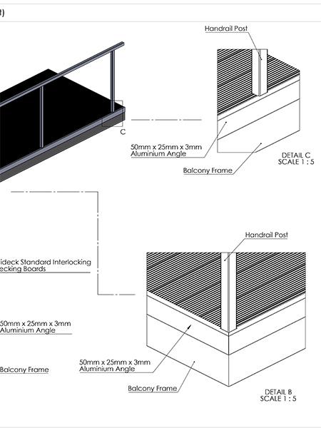 AliDeck aluminium metal decking Edging How To Cut