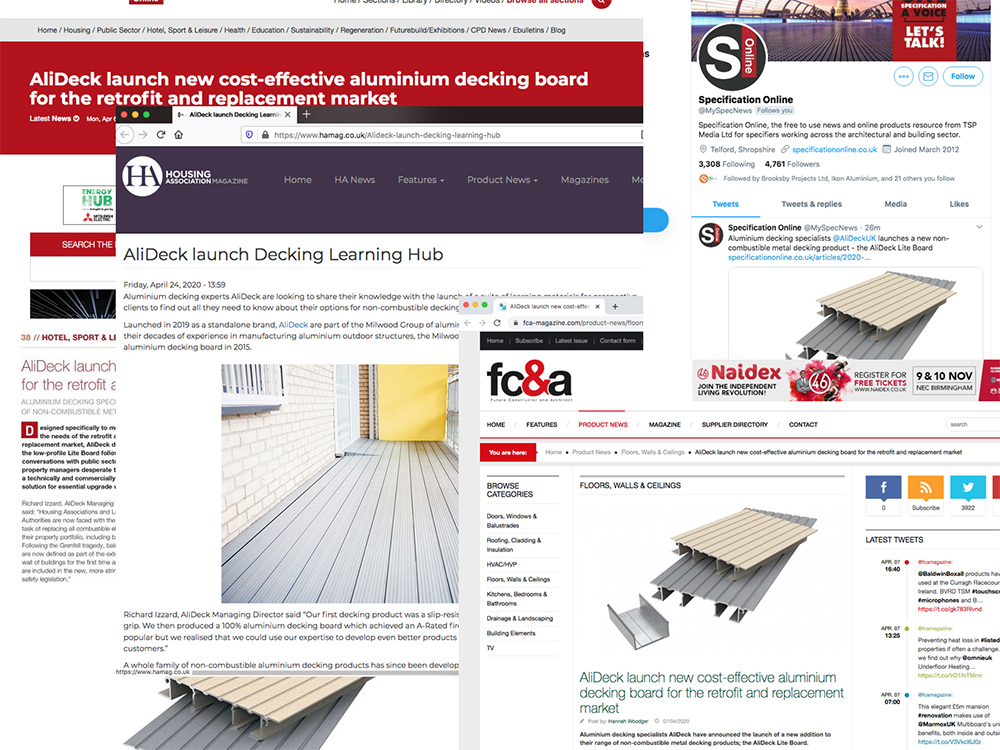 AlIDeck Non-Combustible Aluminium Metal Decking In The News April 2020