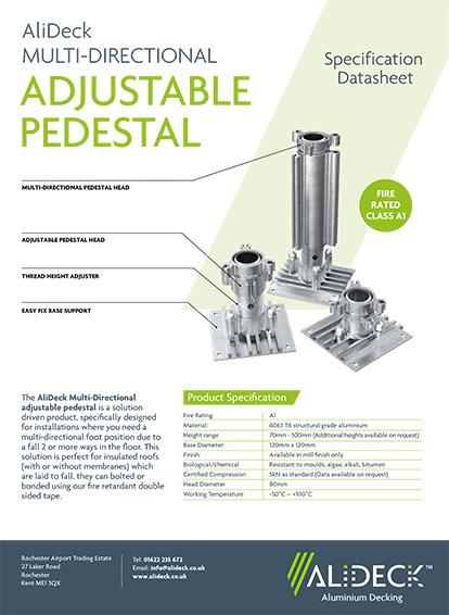 Multi-Directional Adjustable Pedestal