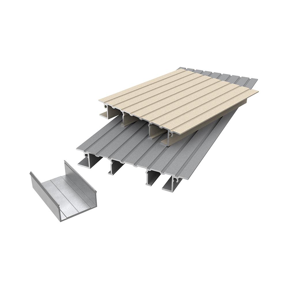 AliDeck Non-combustible aluminium metal decking Lite Board