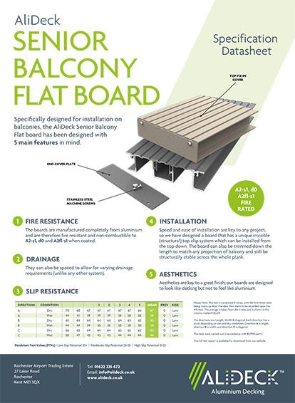 Senior Flat Balcony Board