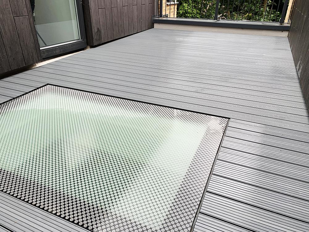 AliDeck Non-Combustible Aluminium Metal Decking Used In Balcony Refurbishment Project In Lewisham