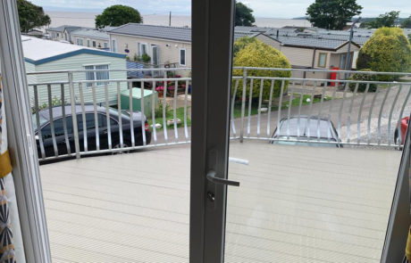 AliDeck Non-Combustible Aluminium Metal Decking Lite Board Installed at Static Caravan in Wales
