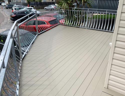 Aluminium Terrace Decking, Barry, Wales: Domestic Static Caravan