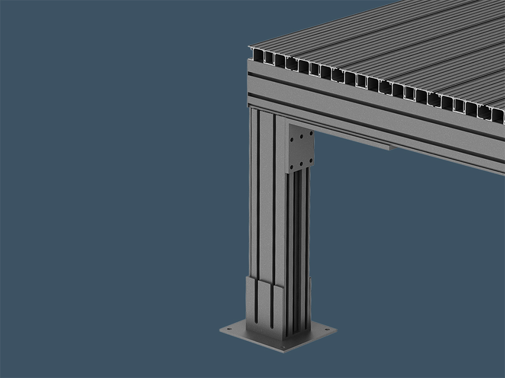 AliDeck Non Combustible Aluminium Metal Decking Supa Joist for Building Structures
