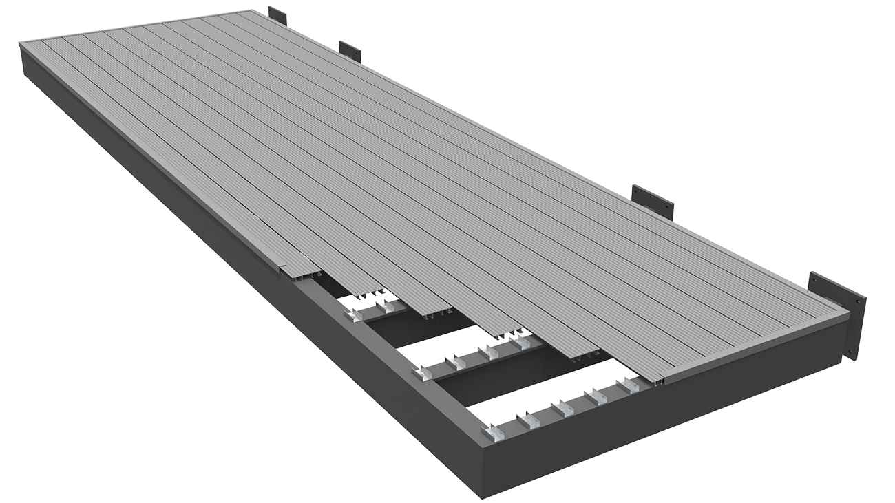 AliDeck Non-Combustible Aluminium Metal Decking Timber or Composite Replacement Solution