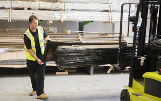 AliDeck Non-Combustible Aluminium Metal Decking Warehouse Team At Our Rochester HQ