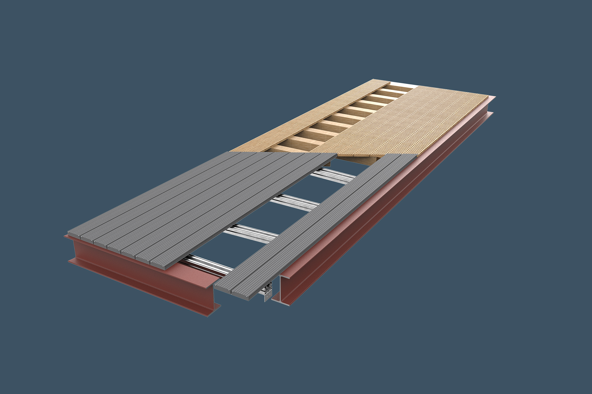 AliDeck Non-Combustible Aluminium Metal Decking Is Ideal Timber Or Composite Replacement Solution