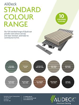 AliDeck Non-Combustible Aluminium Metal Decking Standard Colour Range