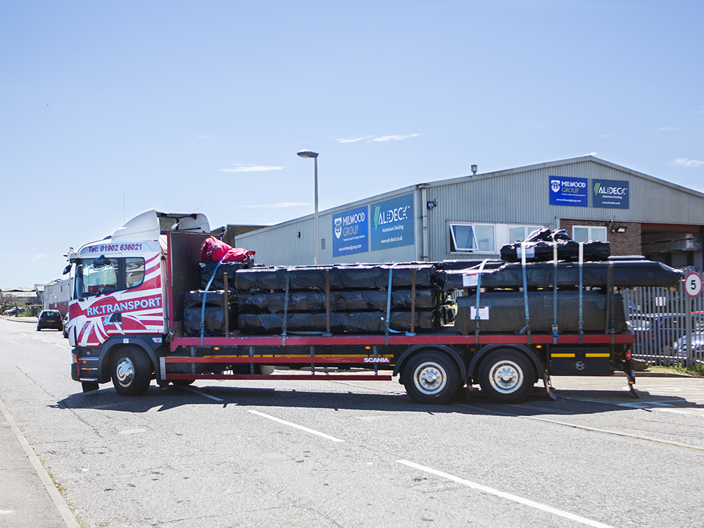 AliDeck Non-Combustible Aluminium Metal Decking 10 Tonne Delivery from Rochester, Kent