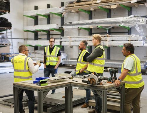 Full house at the AliDeck aluminium decking training academy