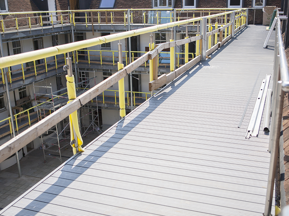 AliDeck Non-Combustible Aluminium Walkway Decking Project on Major Refurbishment Project