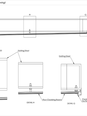 AliClad Flow Non-Combustible Aluminium Balcony Soffit Cladding Cross Section