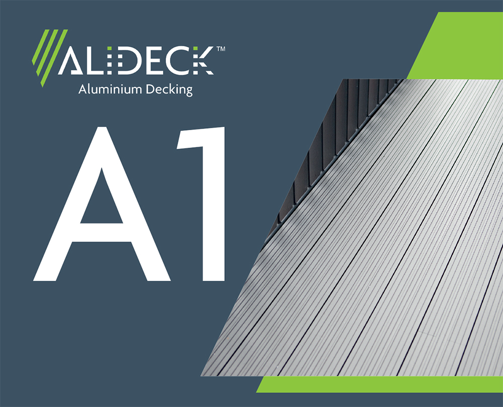 AliDeck Non-Combustible Aluminium Metal Decking Achieves A1 Fire Rating When powder-Coated