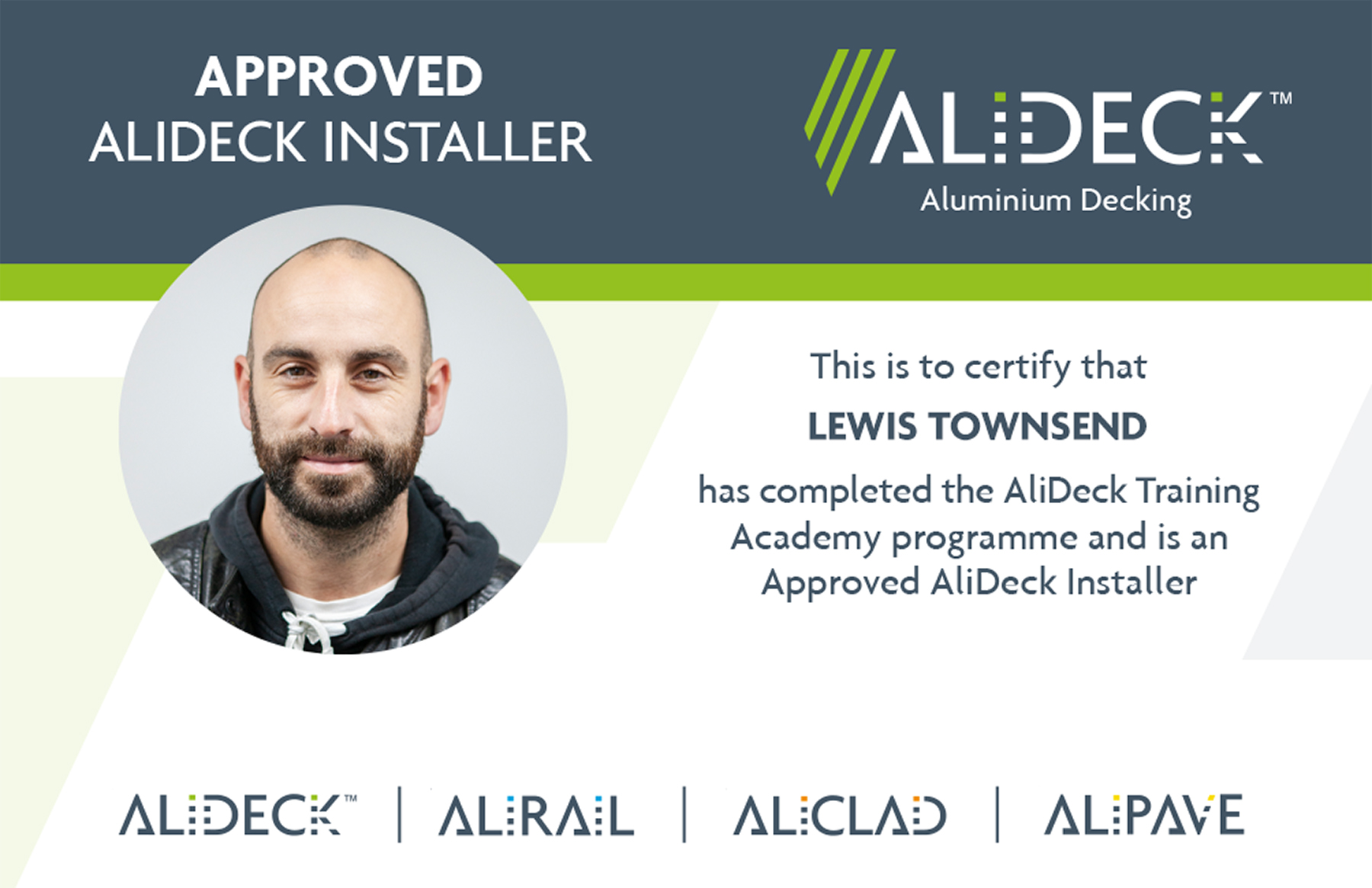 AliDeck Aluminium Decking Installation Training Cards