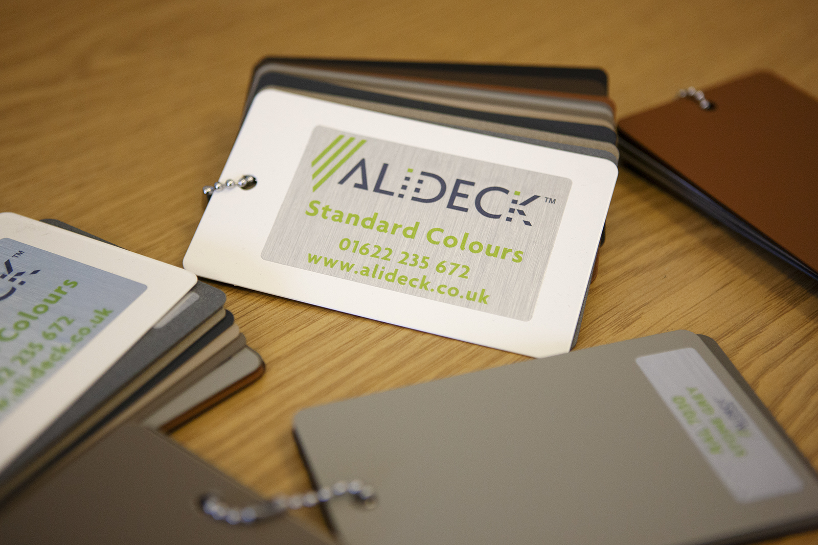 AliDeck Non-Combustible Aluminium Decking Standard Colours Swatch