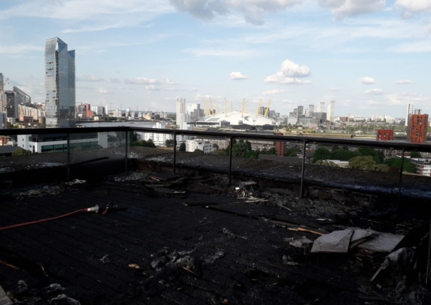 Isle of Dogs Balcony Fire