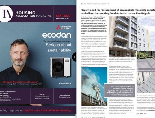 AliDeck Lite Aluminium Decking Board Featured in Housing Association Magazine