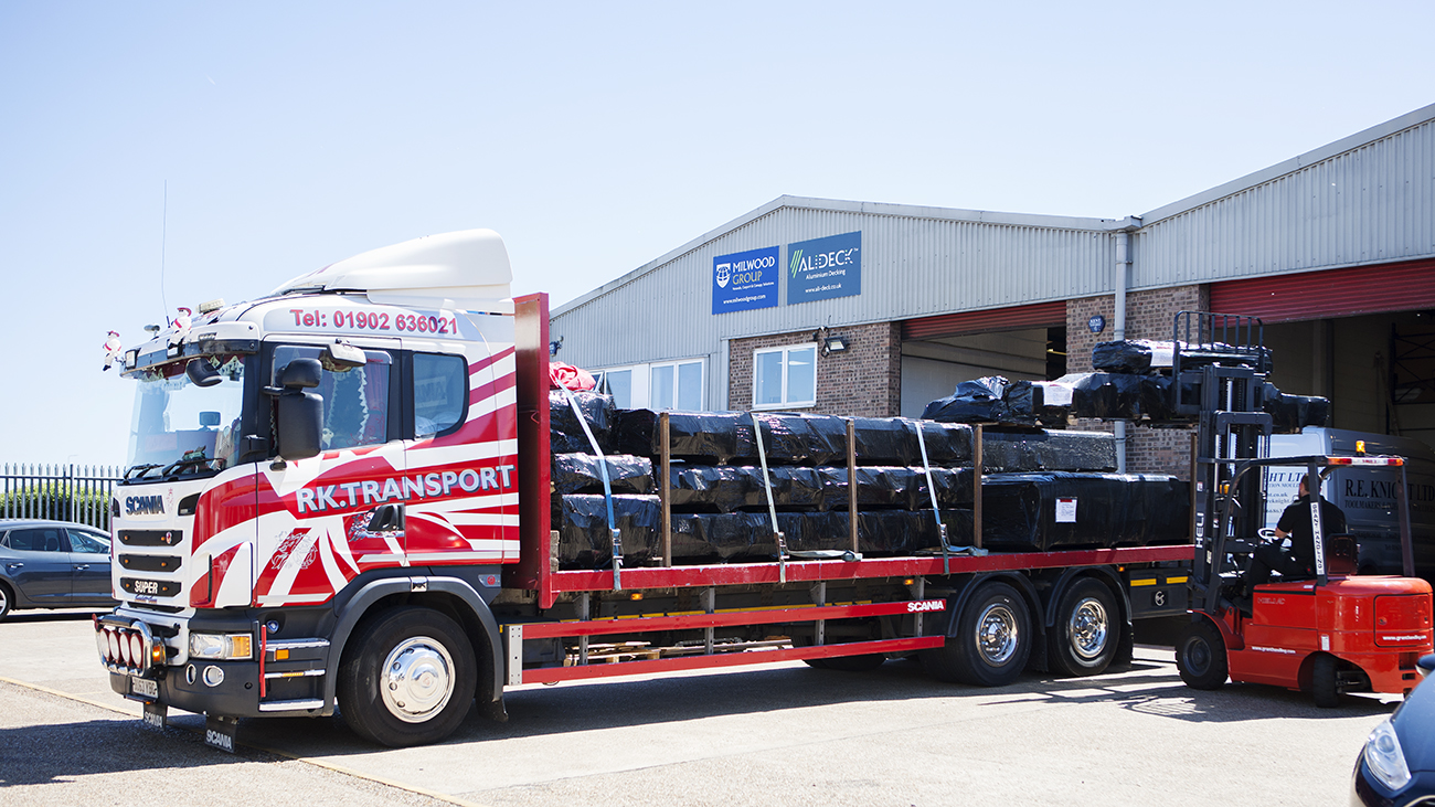 AliDeck Aluminium Metal Decking Flatbed Delivery Option