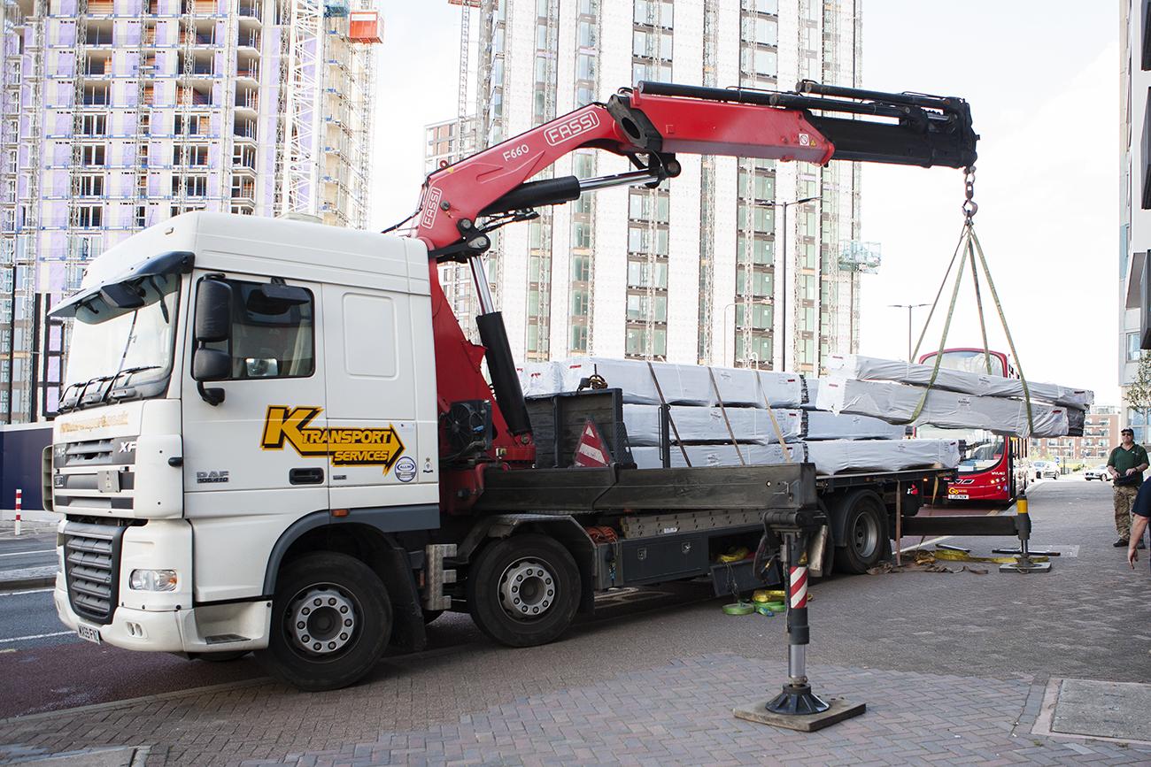 AliDeck Aluminium Metal Decking Hiab Delivery Option