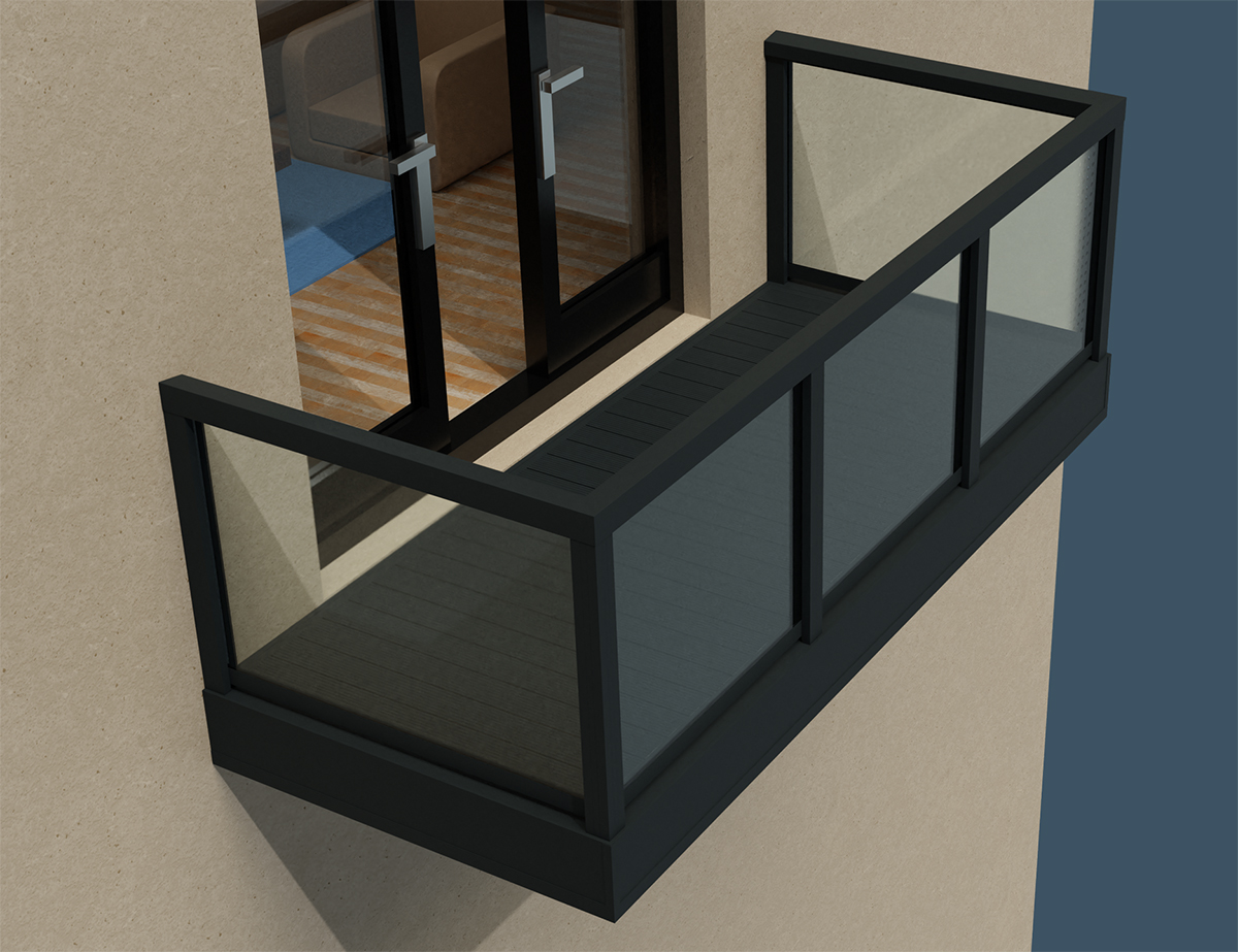 AliRail Non-Combustible Aluminium Balcony Balustrade System Datasheet