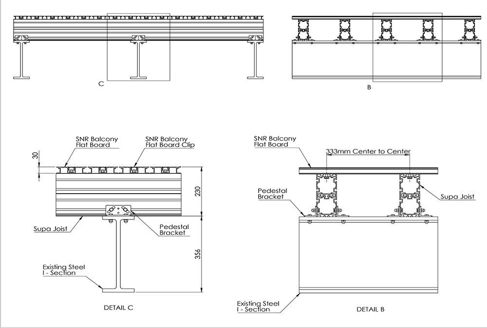 Alideck SNR Balcony Flat Board With Supa J
