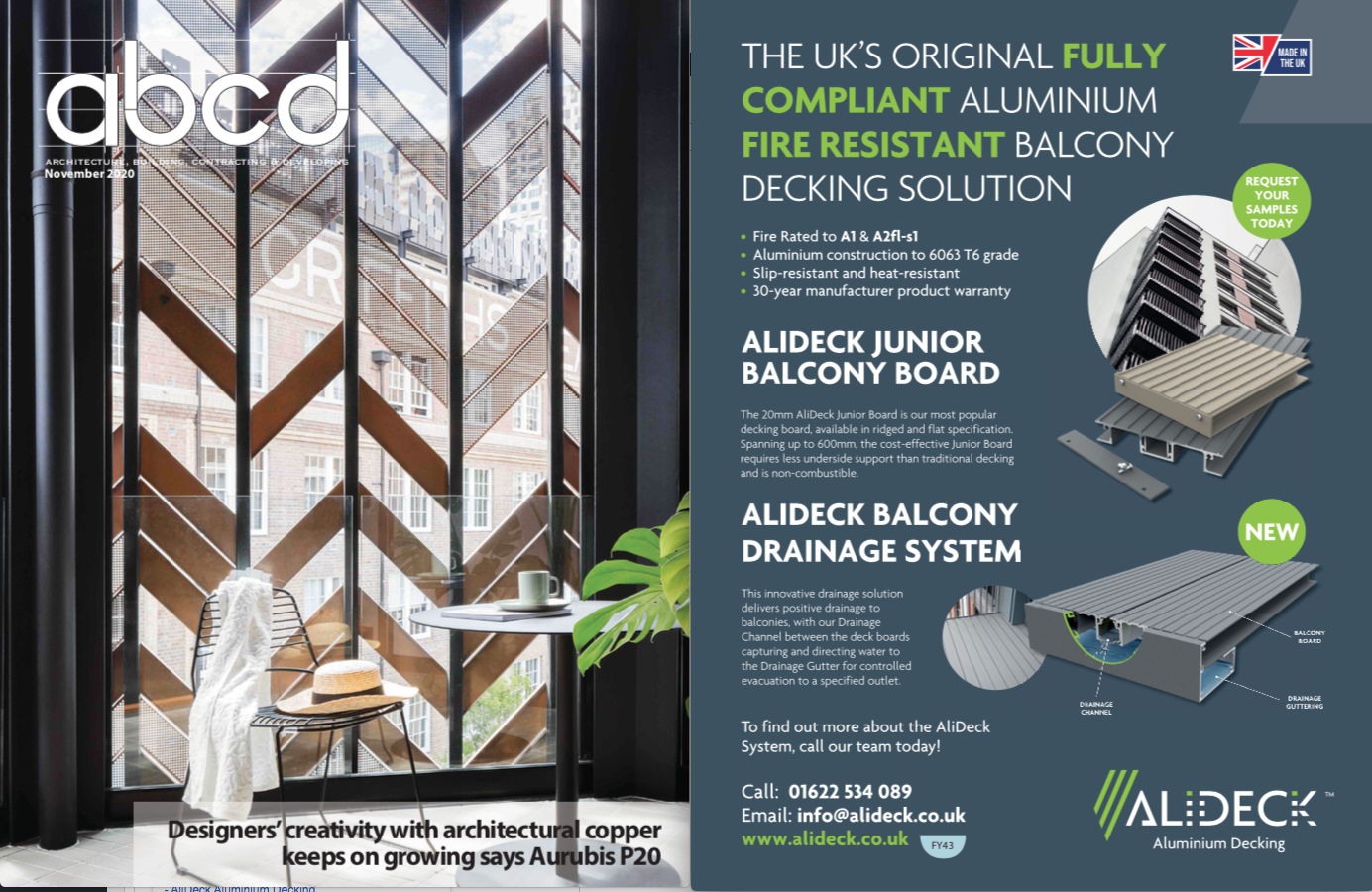 AliDeck Featured In ABC&D's Novmber issue Magazine1
