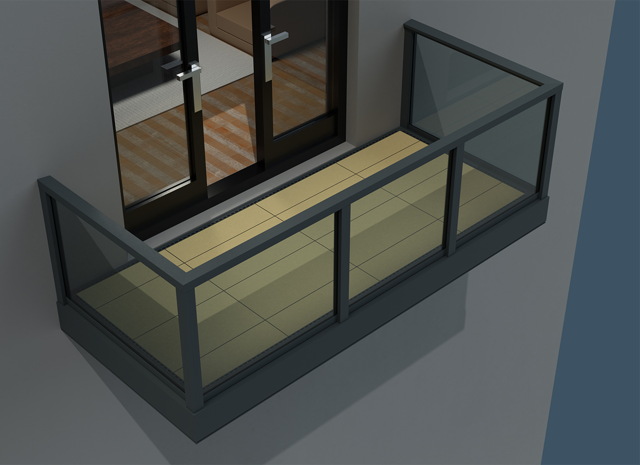AliPave Non-Combustible Aluminium Balcony paving Support System