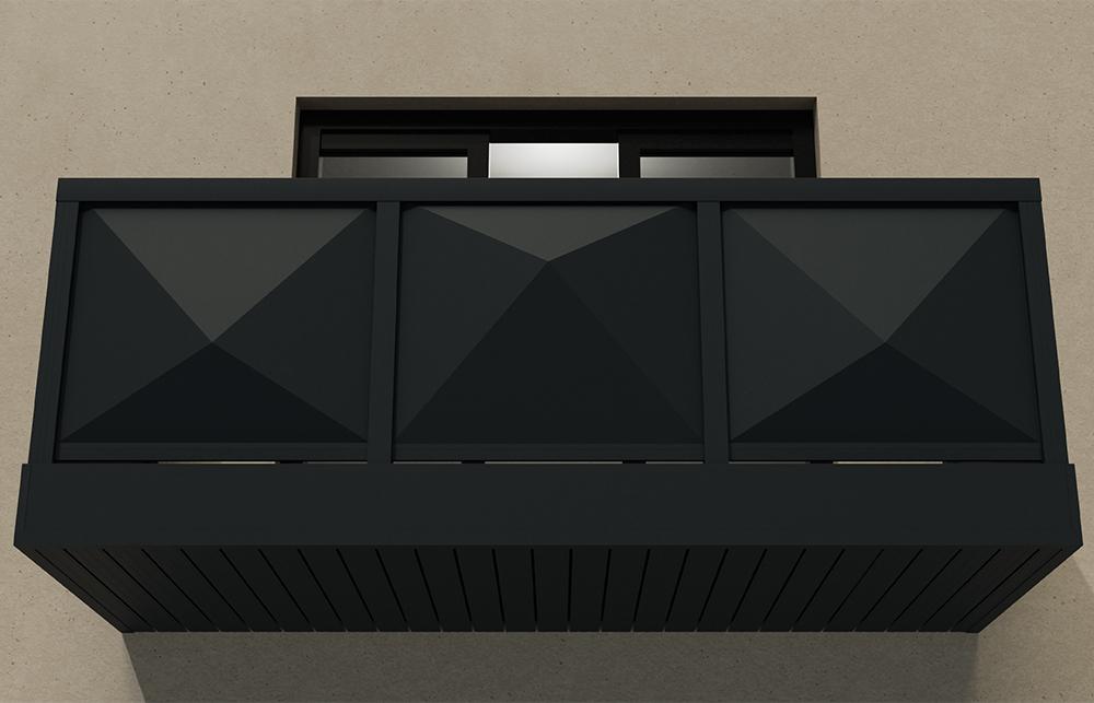 AliRail Non-Combustible Aluminium Balcony Balustrade System 3D Twin Skin