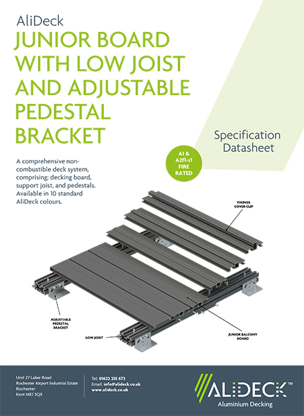 AliDeck Aluminium Decking Full Systems for Balconies