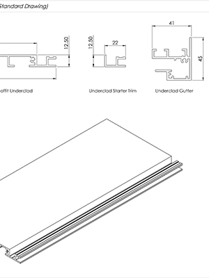 AliClad Non Combustible Aluminium Balcony Soffit Cladding Standard Drawings
