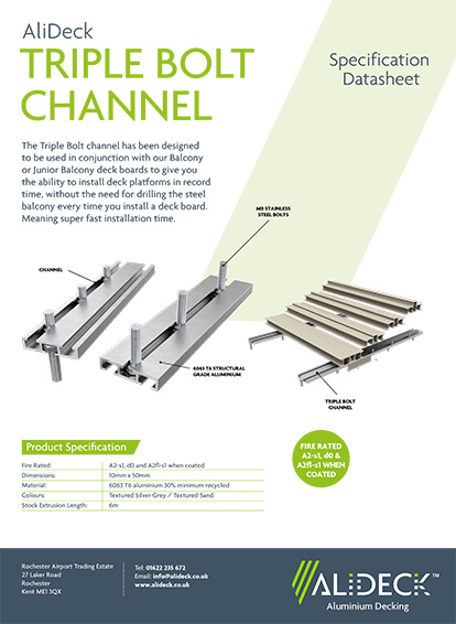 Triple Bolt Channel Spec Sheet