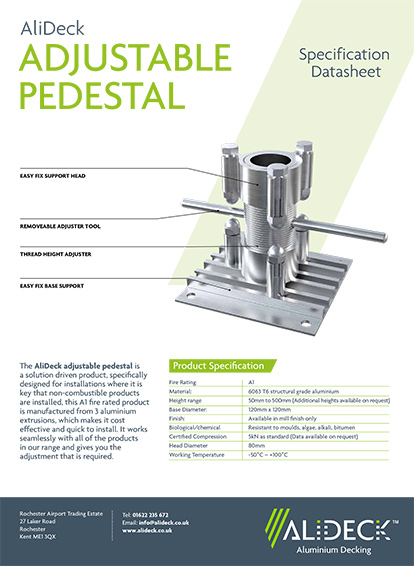AliDeck Adjustable Pedestal