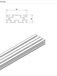 AliDeck Aluminium Metal Decking Lite Joist Standard Drawing