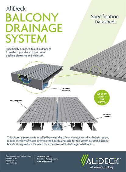Balcony Drainage System Spec Sheet