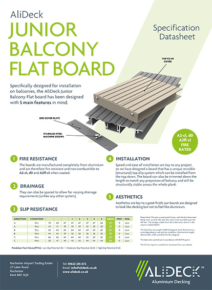 AliDeck Junior Balcony Flat Board
