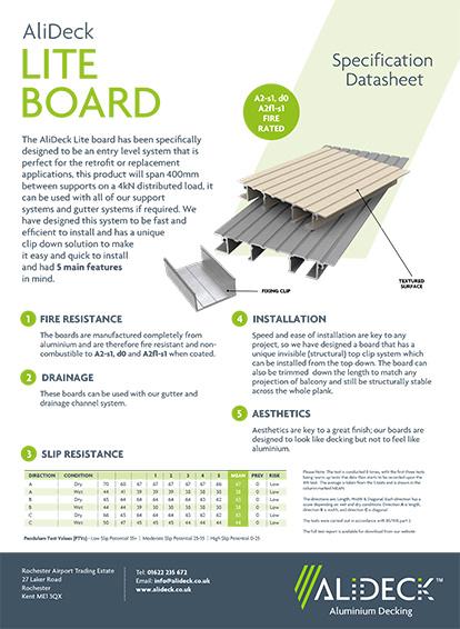 AliDeck Lite Balcony Board